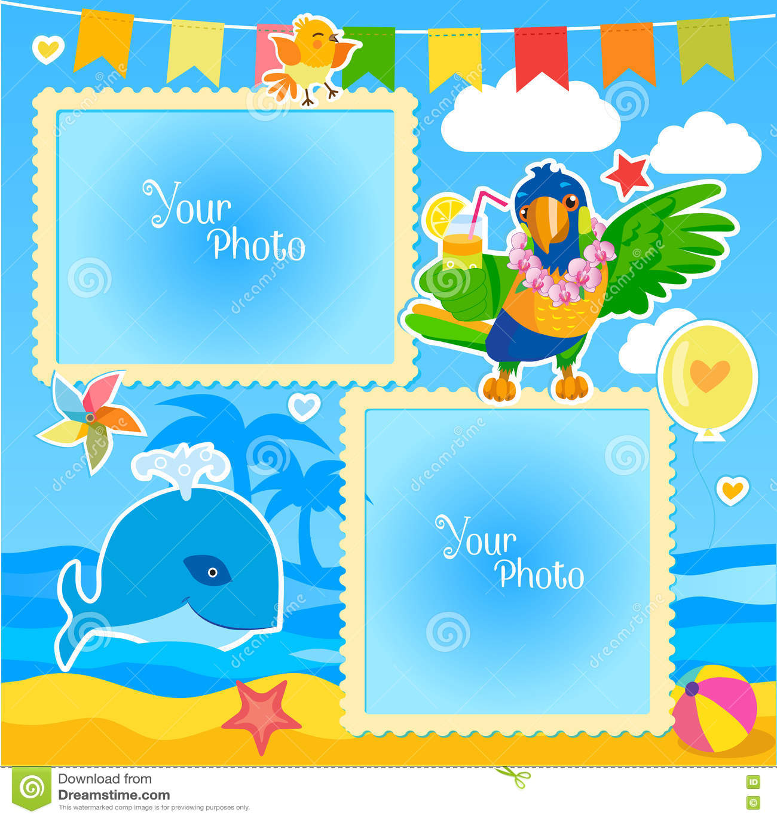 Parrot Wallpaper Border