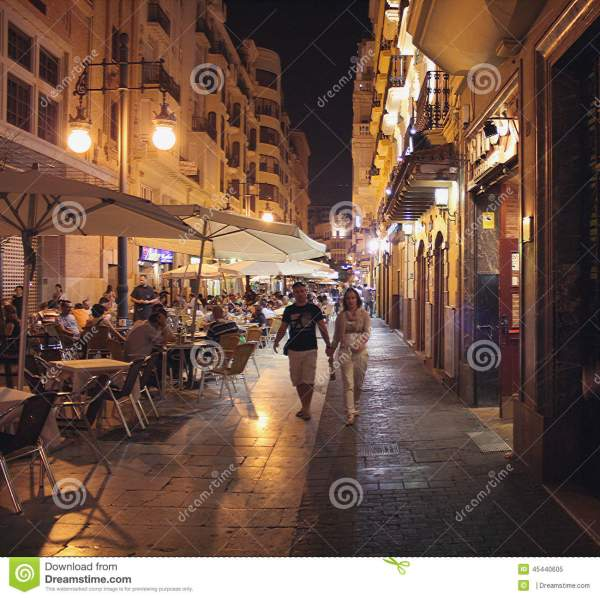 Shopping And Nightlife, Valencia Editorial Image - Image ...