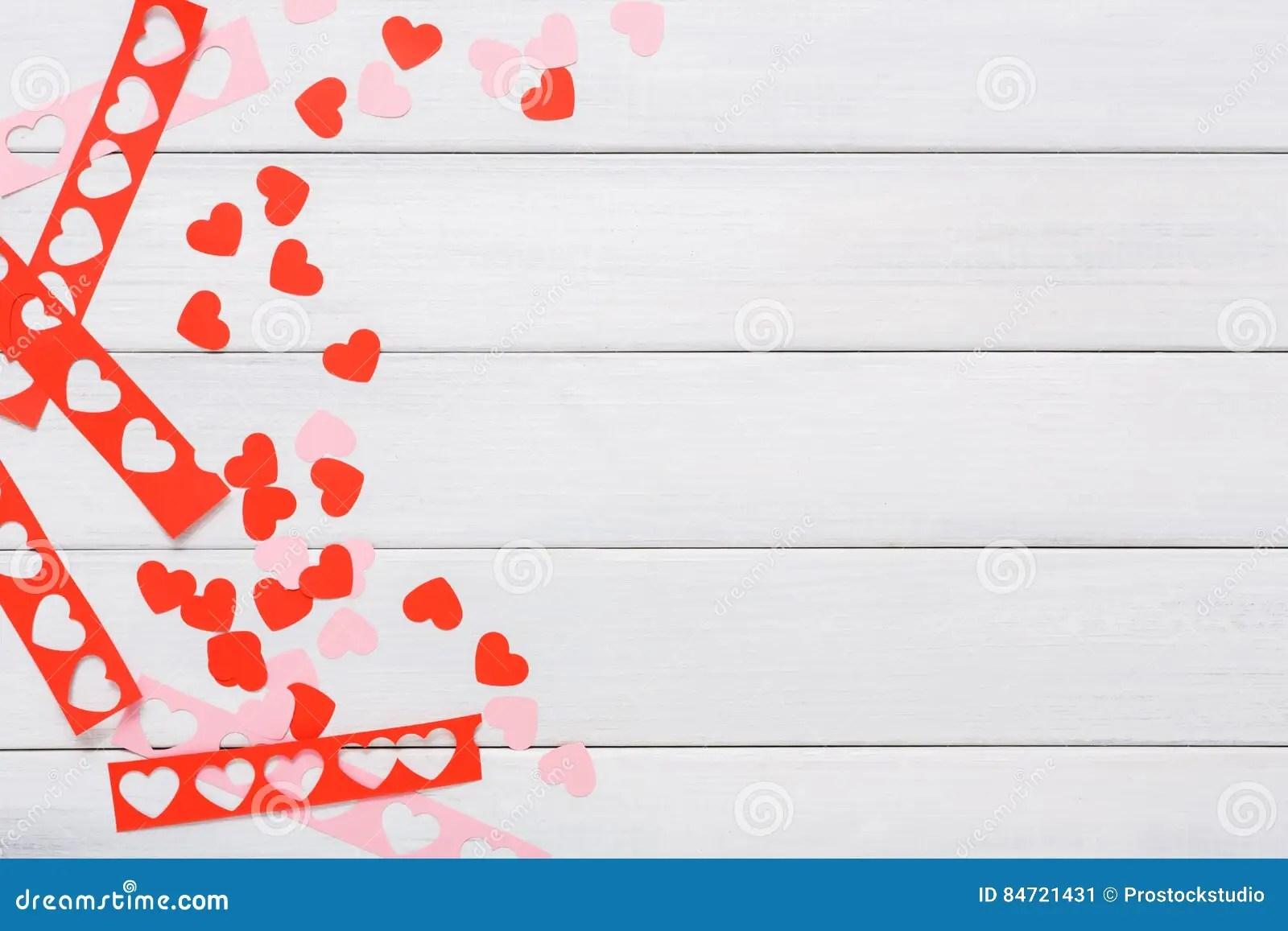 Valentine Day Handmade Scrapbooking Background Cut And