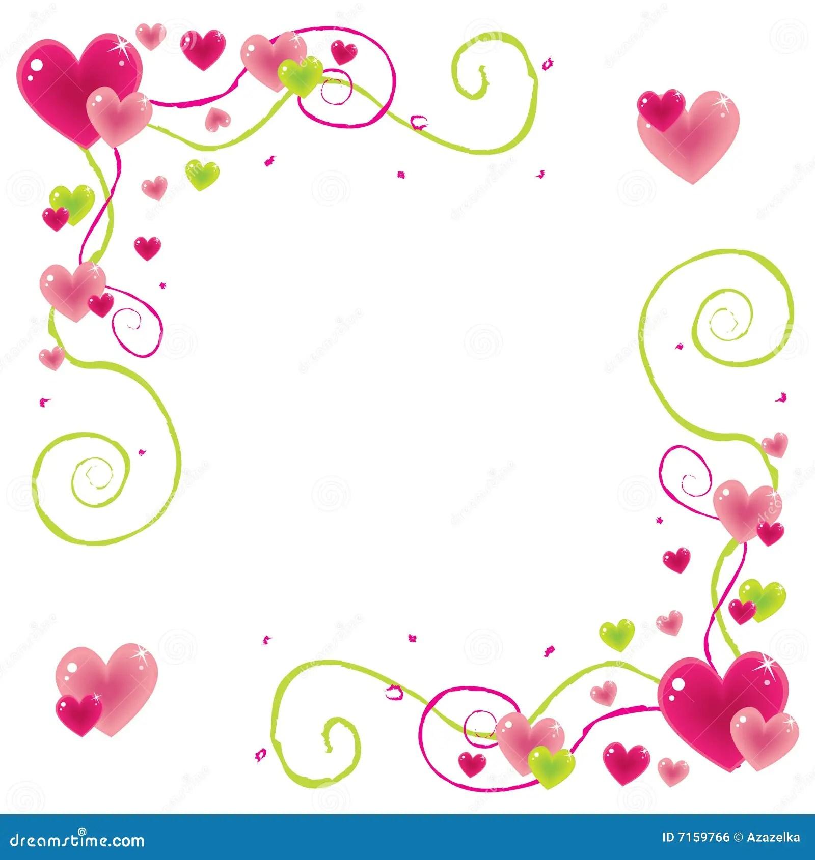 Valentine Frame Stock Vector Image Of Heart Vector Illustration