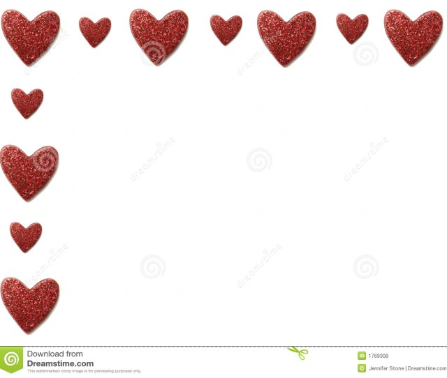 Valentine Heart Border Royalty Free Stock Photos Image
