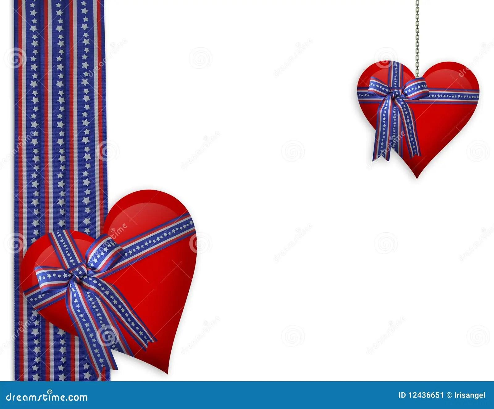 Valentine Patriotic Hearts Stock Illustration Image Of