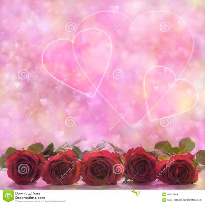 Valentine Roses And Hearts Photos - Valentine Gift