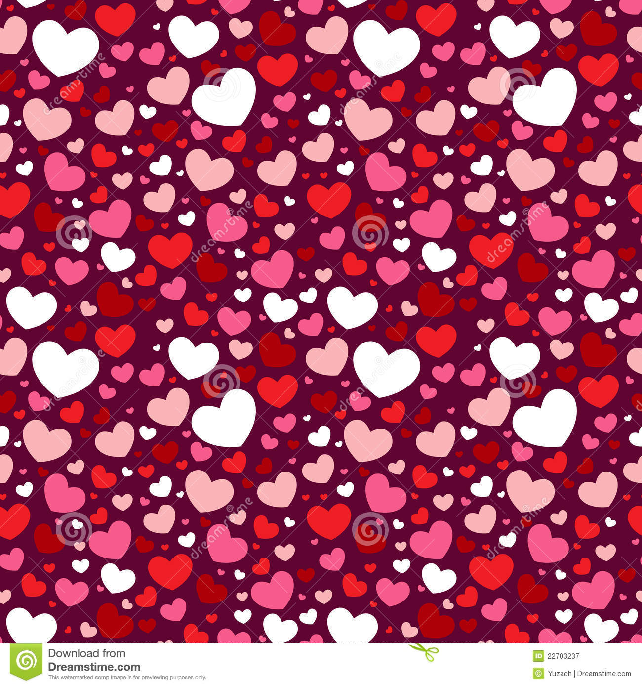 Valentine Seamless Pattern With Hearts Royalty Free Stock