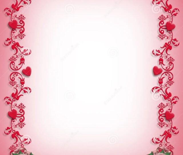 Valentines Day Hearts Border Design