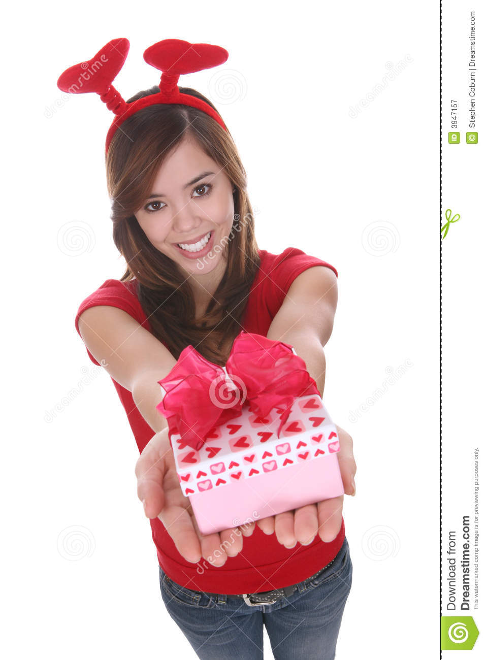 Valentines Girl Royalty Free Stock Photography Image
