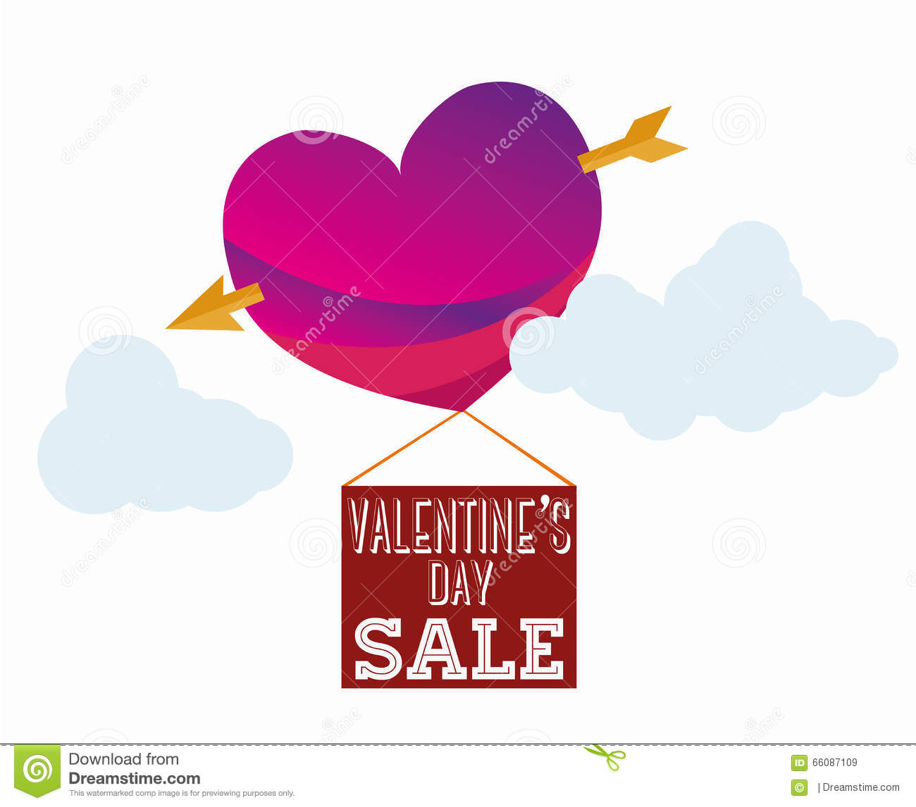 Valentines Sale Stock Vector