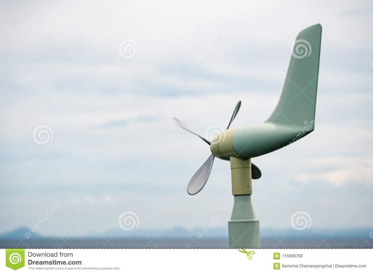 A Vane Style Anemometer Use For Measure Real Time Wind