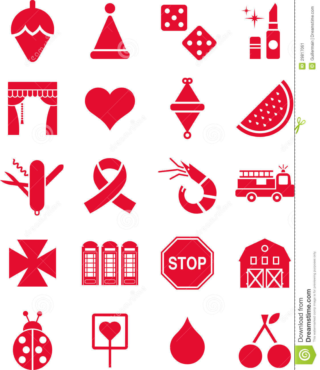 Red Icons Stock Vector Illustration Of Theme Colour