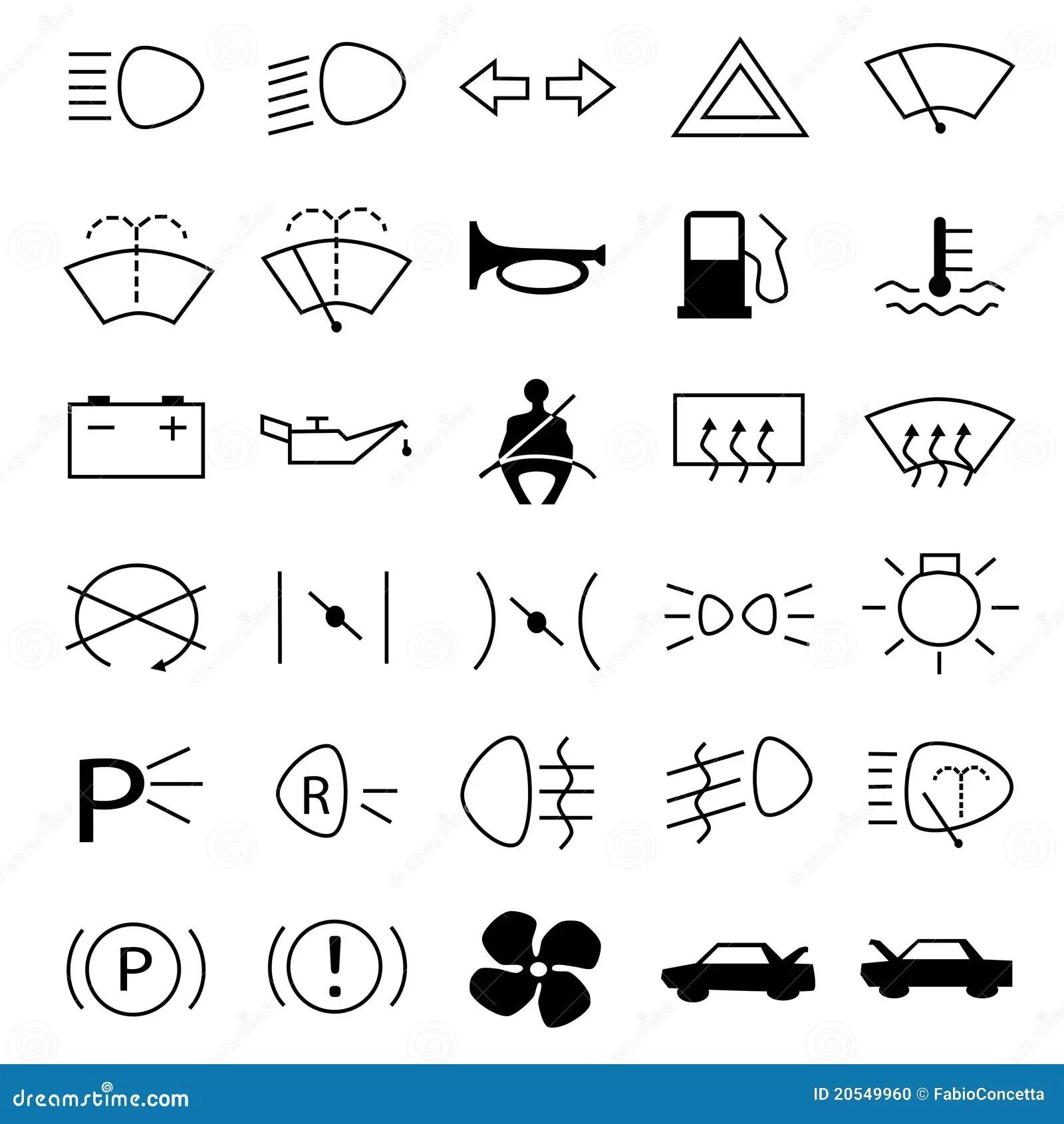 Varna For Bilsymboler Arkivfoto
