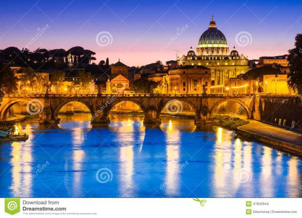 Vatican, Rome, Italy stock photo. Image of dusk, church ...