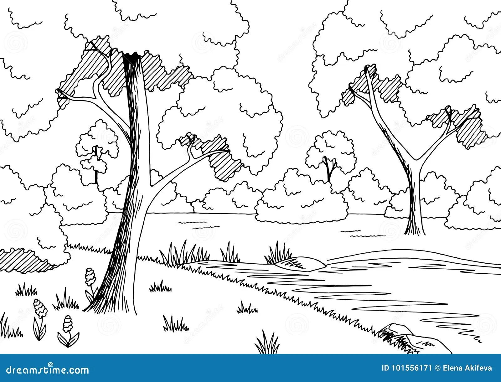 Vecteur Blanc Noir Graphique D Illustration De Croquis De