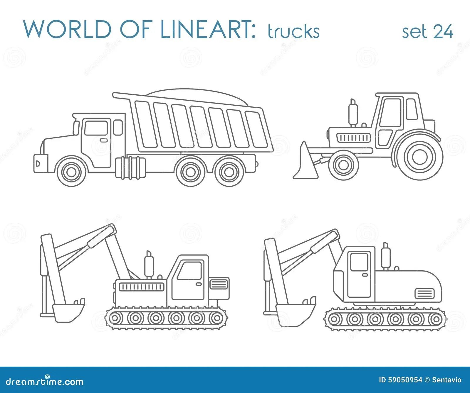 Vecteur Transport De Construction De Schema Niveleuse De