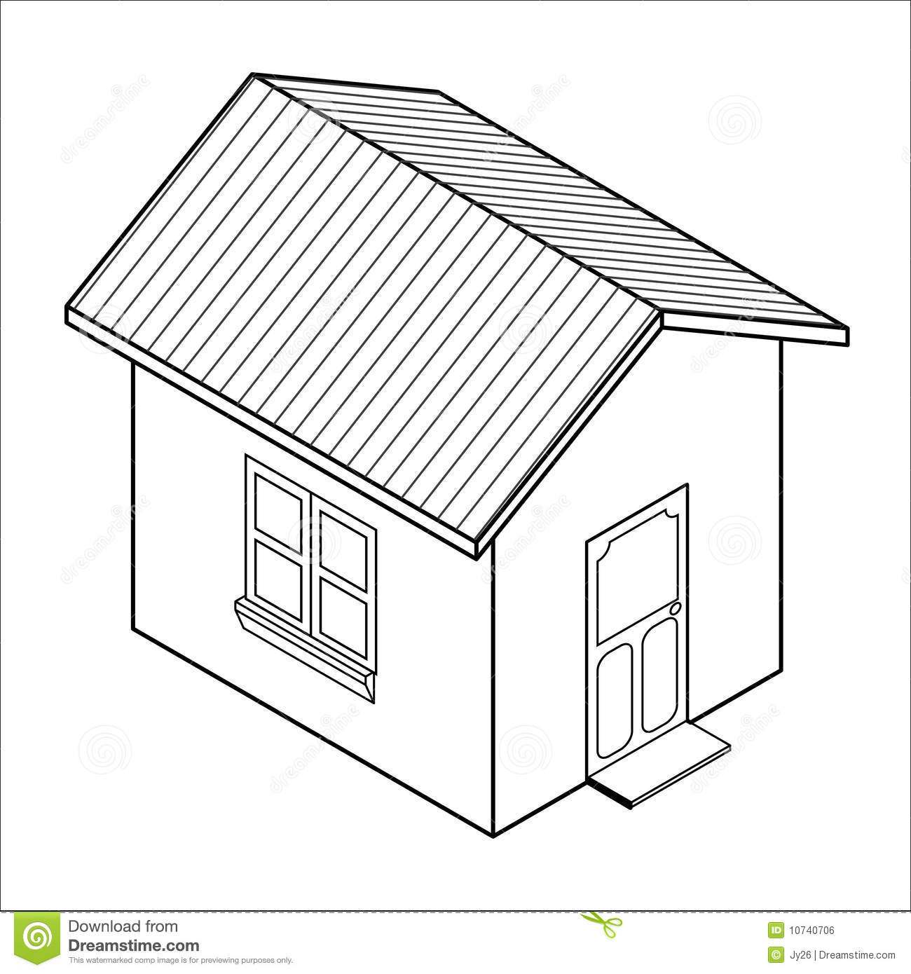 Vector 3d House Icon Vector Stock Vector