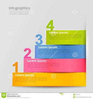 Vector Abstract 3d Paper Infographics Stock Vector  Image