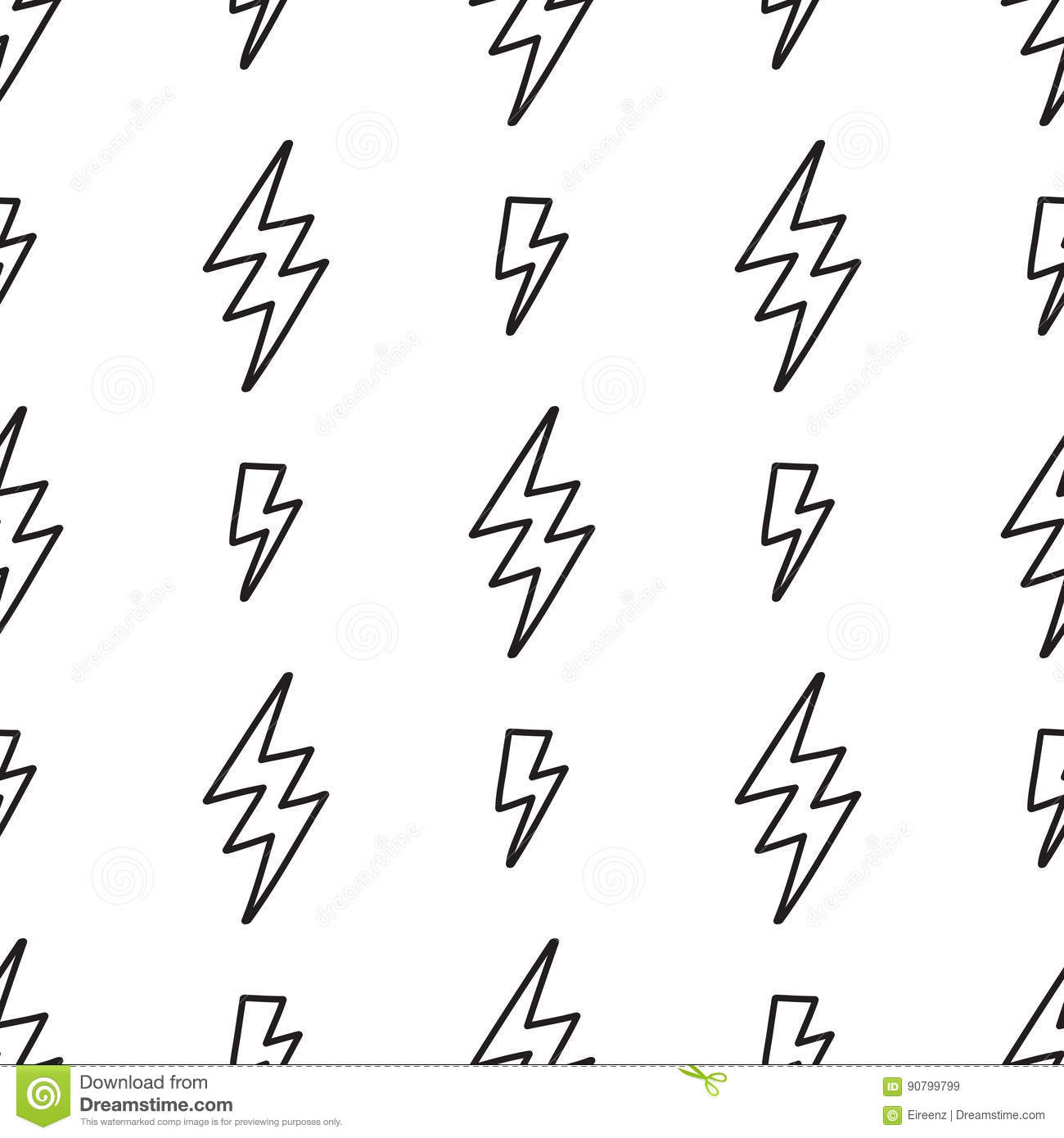 Vector Abstract Pop Art Pattern With Lightning Bolts Stock