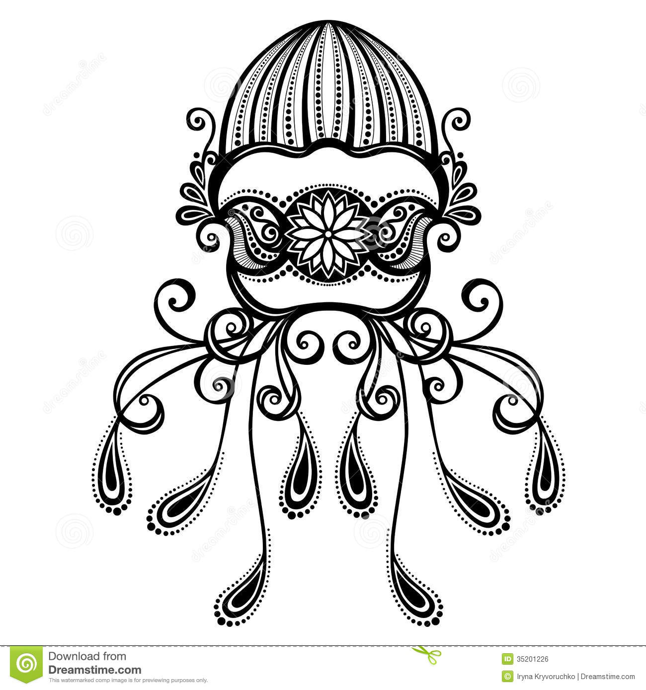 Vector Abstract Sea Jellyfish Stock Vector