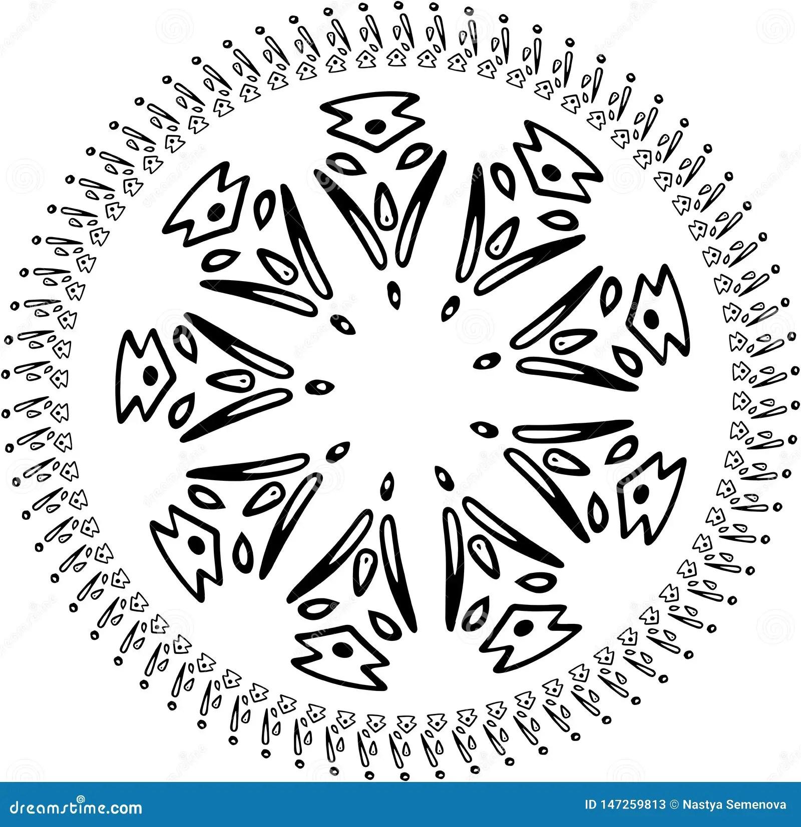 Vector Abstract Snowflake Of Geometric Shapes Christmas