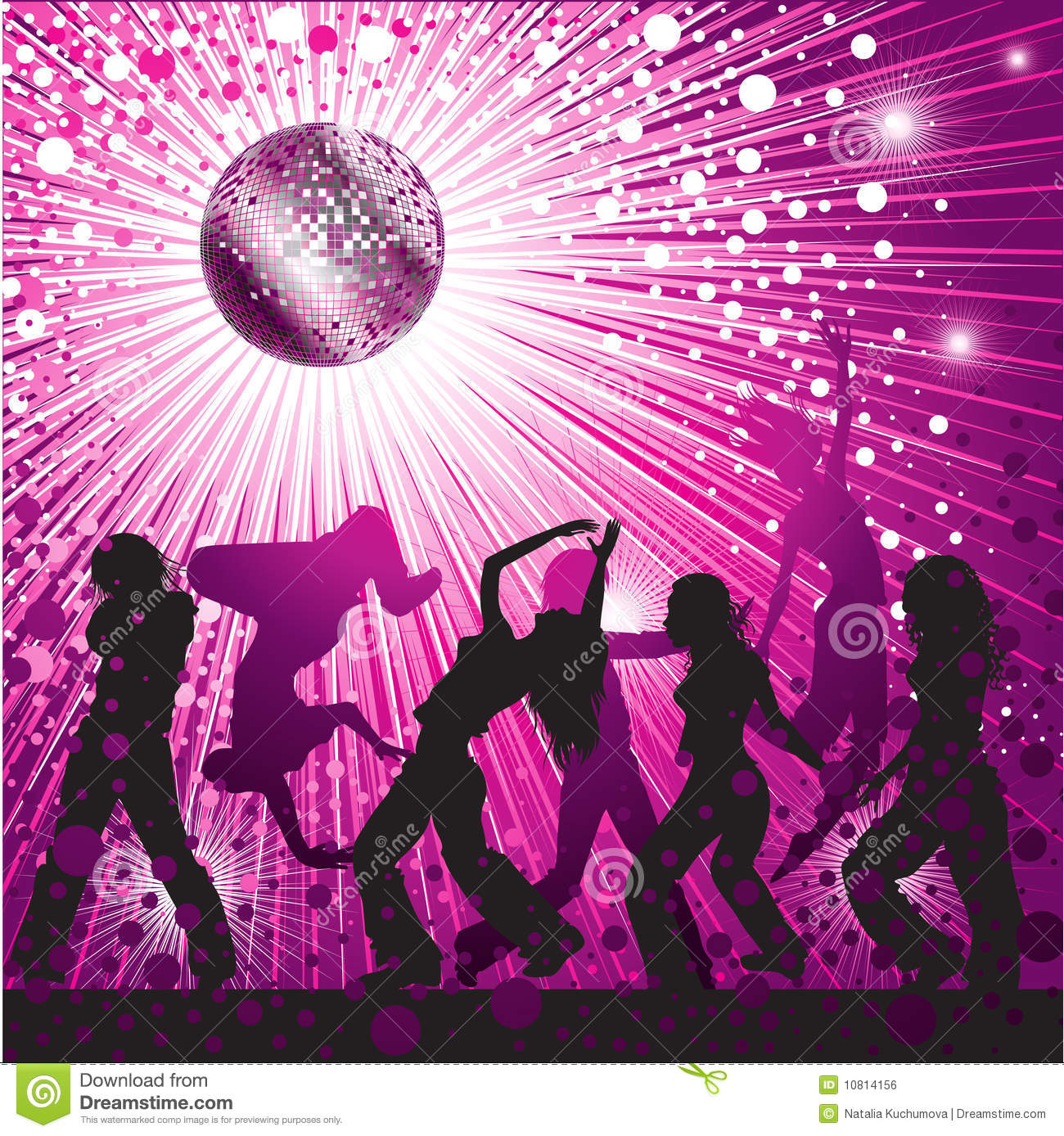Vector Background With People Dancing In Nightclub Royalty