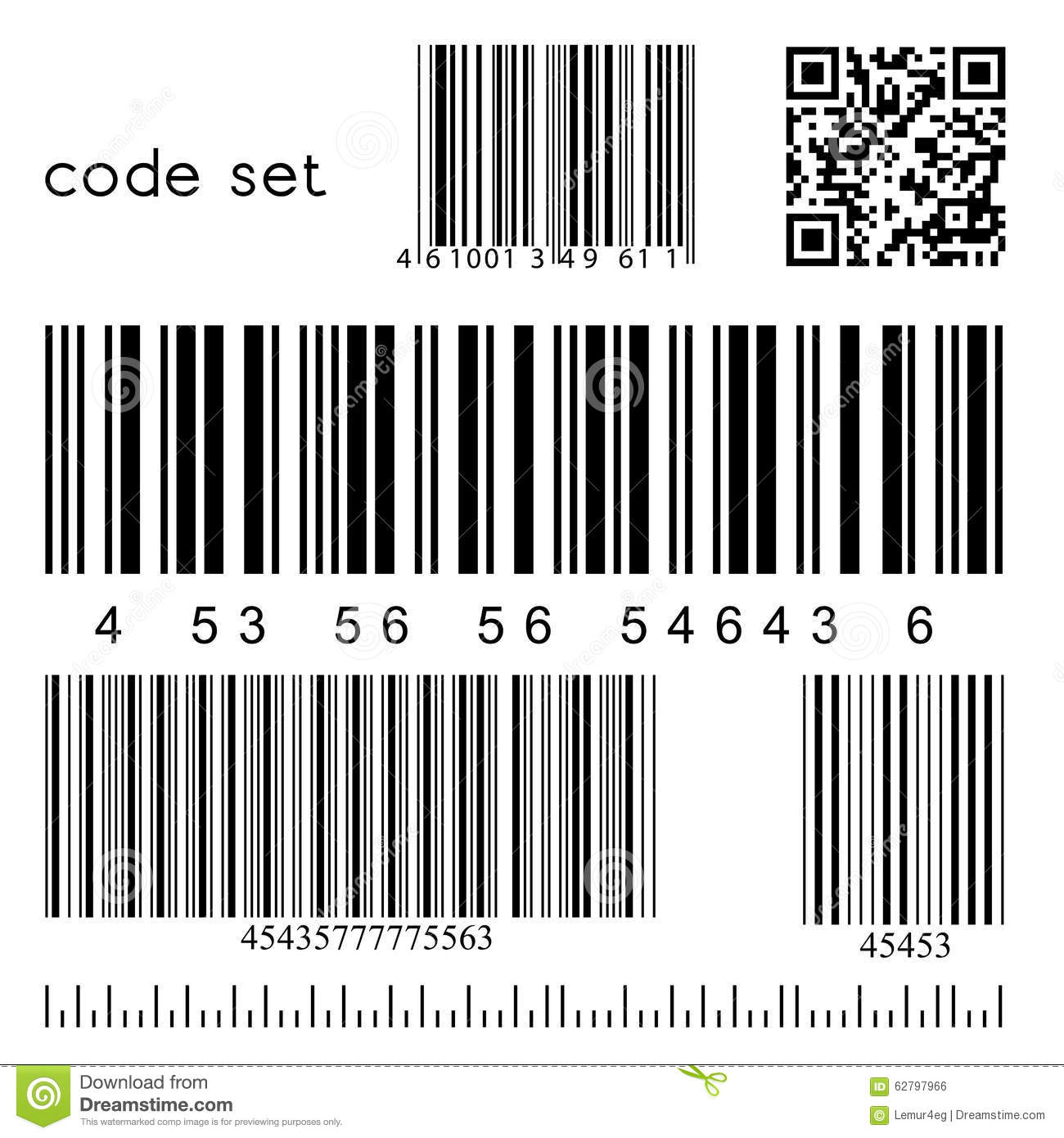 Vector Barcode Set Stock Vector