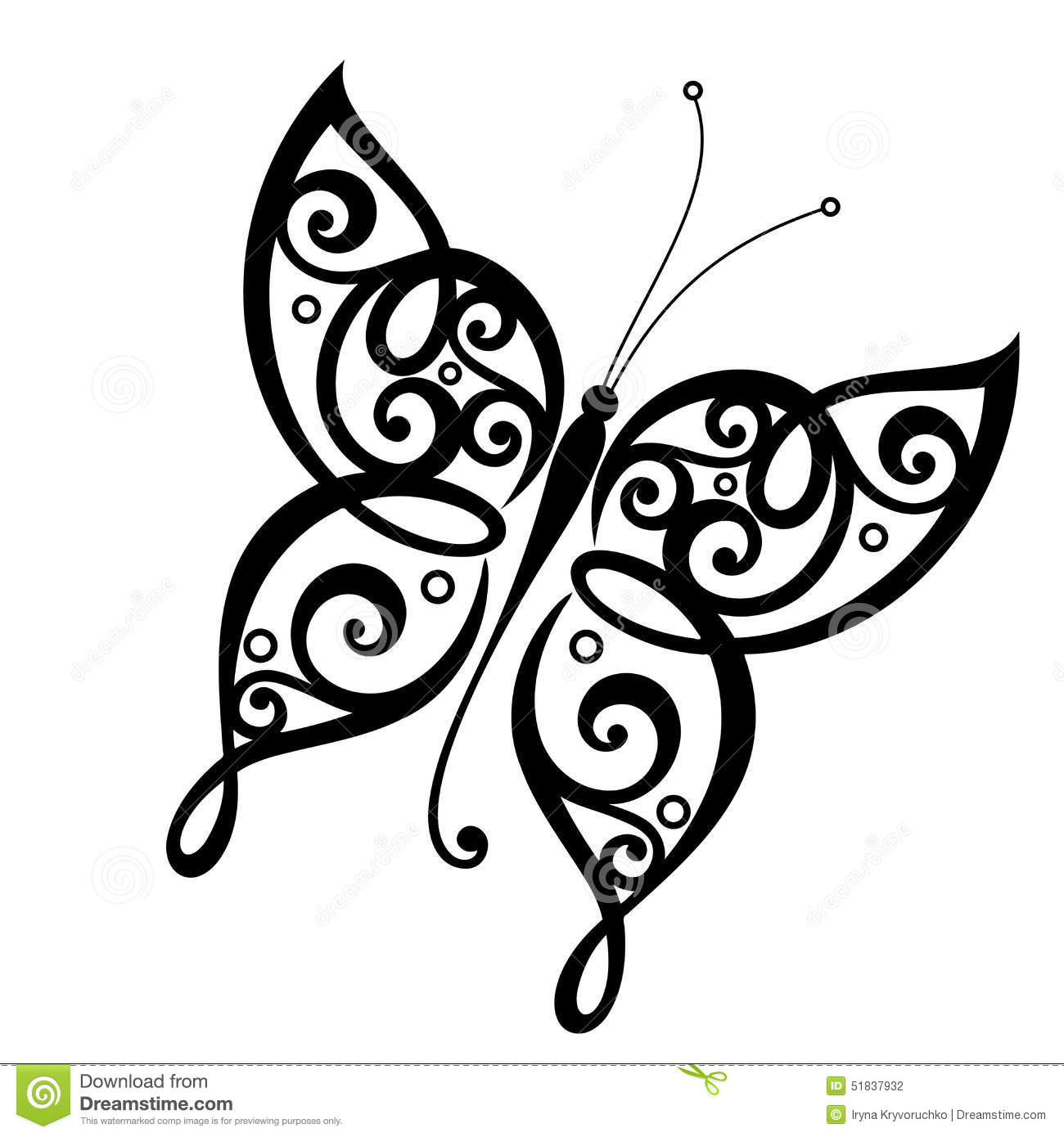 Vector Beautiful Butterfly Stock Vector