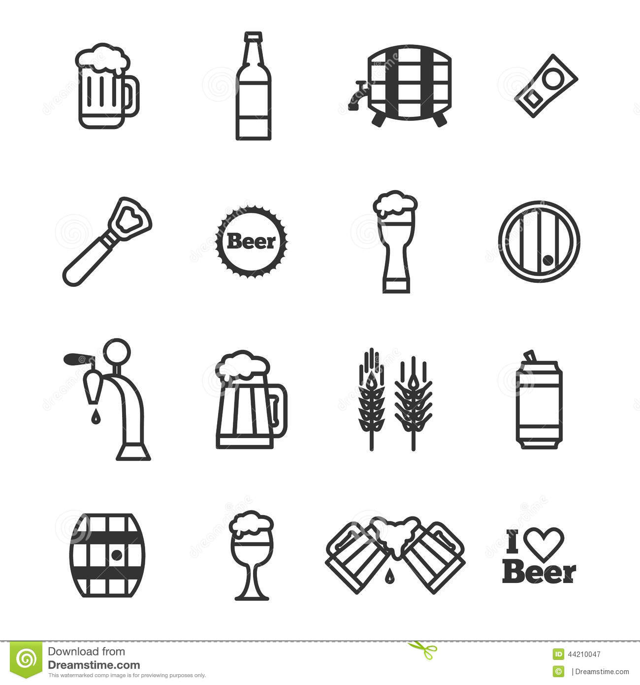 Vector Beer Icons Stock Vector Image Of Wine Background