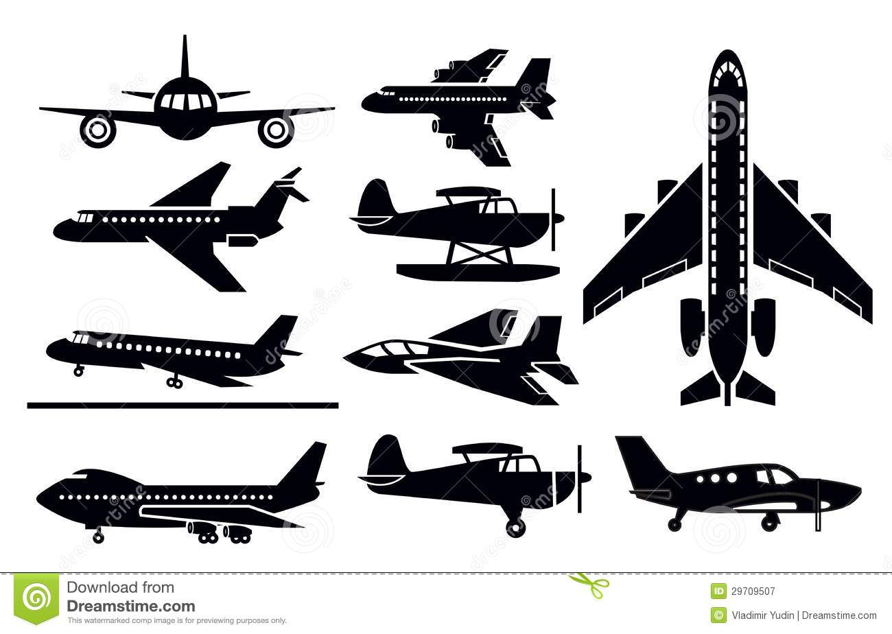 Planes Icon Royalty Free Stock Photography