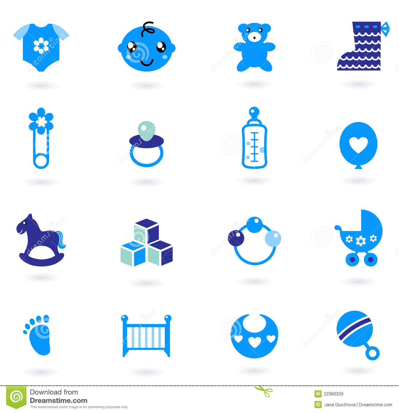 Royalty Free Stock Images Vector Blue Icons Collection