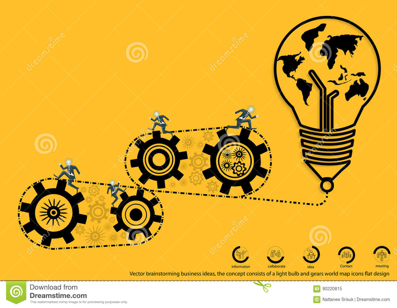 Vector Brainstorming Business Ideas The Concept Consists
