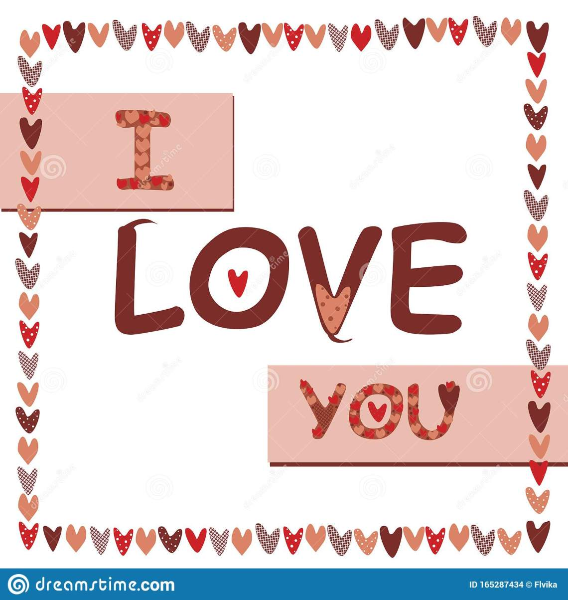 A Lettering With The Words I Love You For Valentines Day ...
