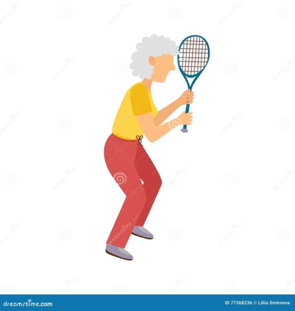 Vector Cartoon Active Old Woman Stock Vector - Image: 77368236