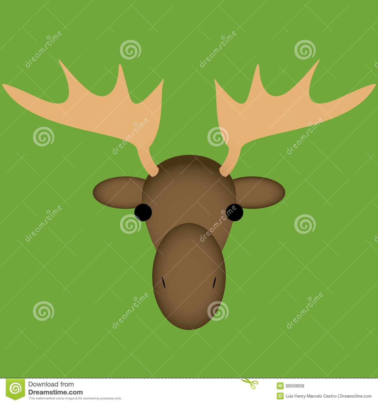 Cute Moose Face Drawing