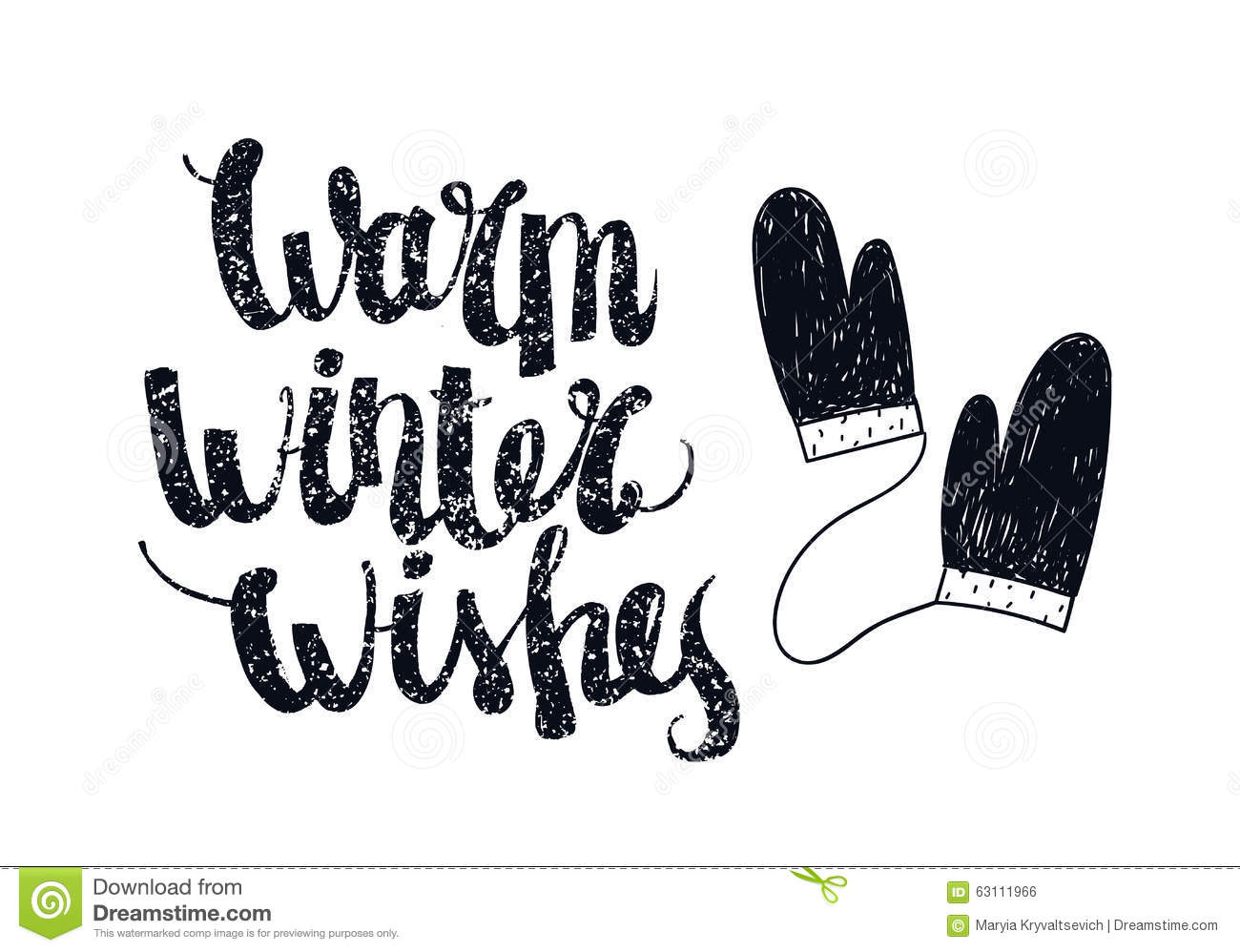 Vector Christmas Winter Lettering Greeting Quote Stock