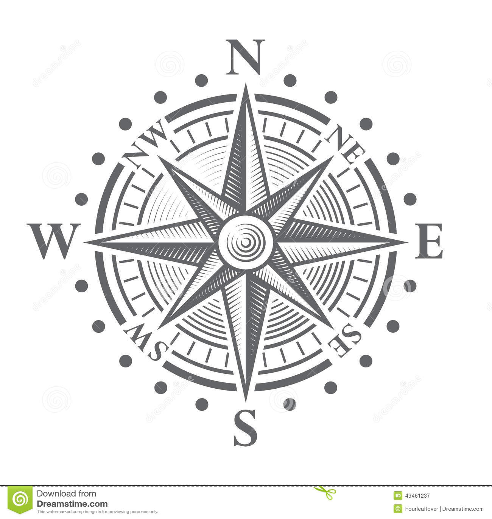 Vector Compass Rose Stock Vector