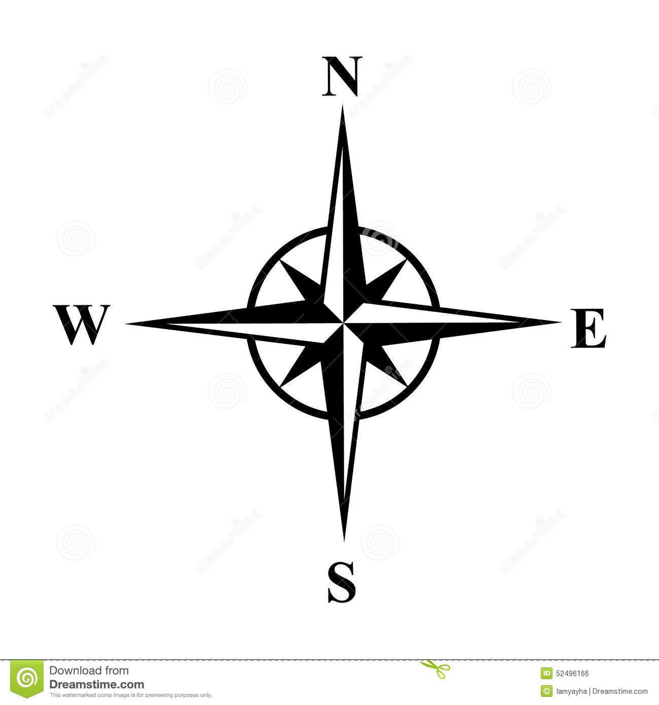 Vector Compasses Icon Wind Rose Eps 10 Stock Vector