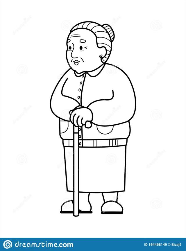 Grandmother Coloring Page Stock Illustrations – 14 Grandmother