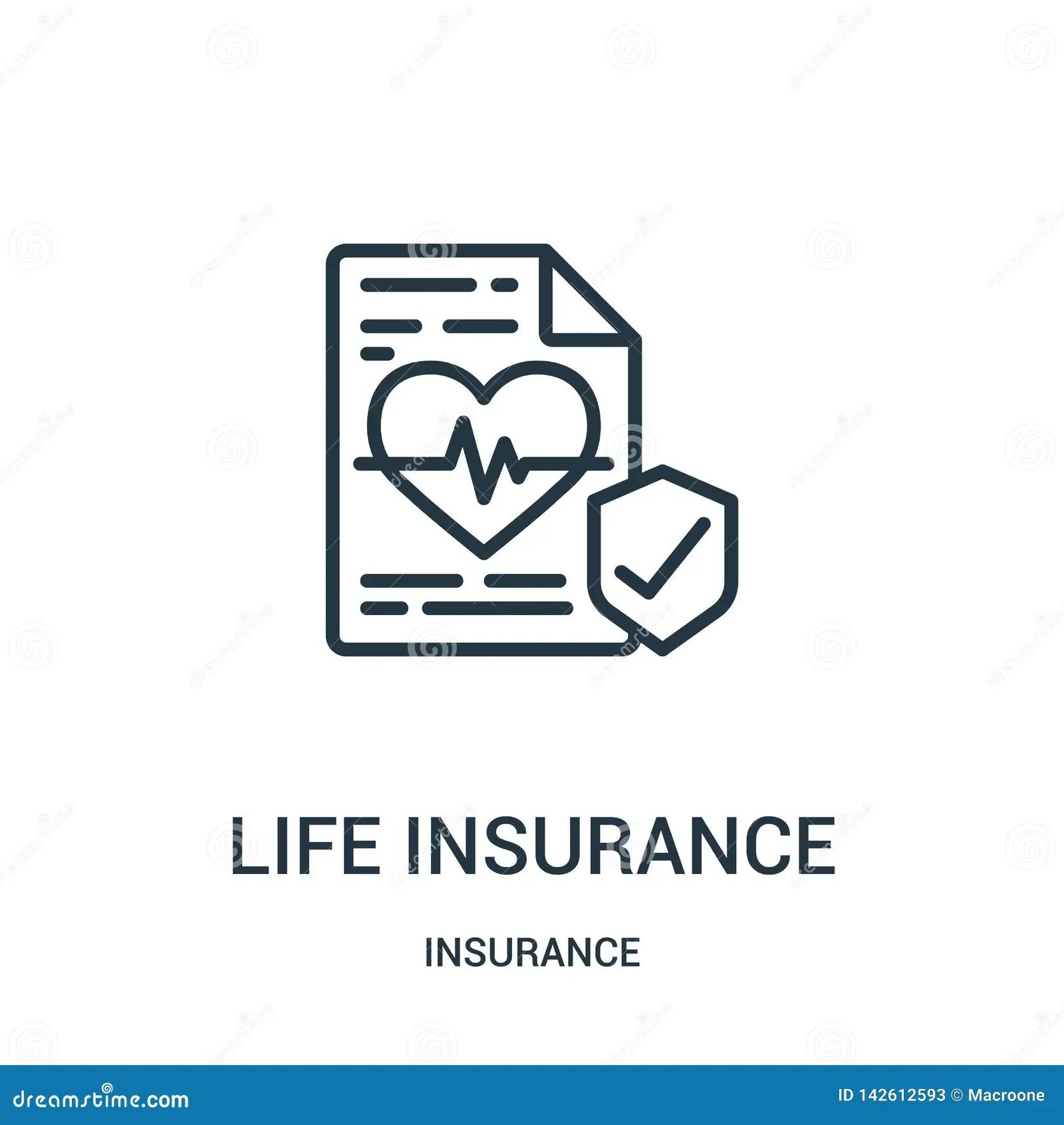 Descubre todas las opciones que te ofrece bbva seguros provincial y cotiza los productos de vida y gastos funerarios en forma online. Vector Del Icono Del Seguro De Vida De La Colecci?n Del