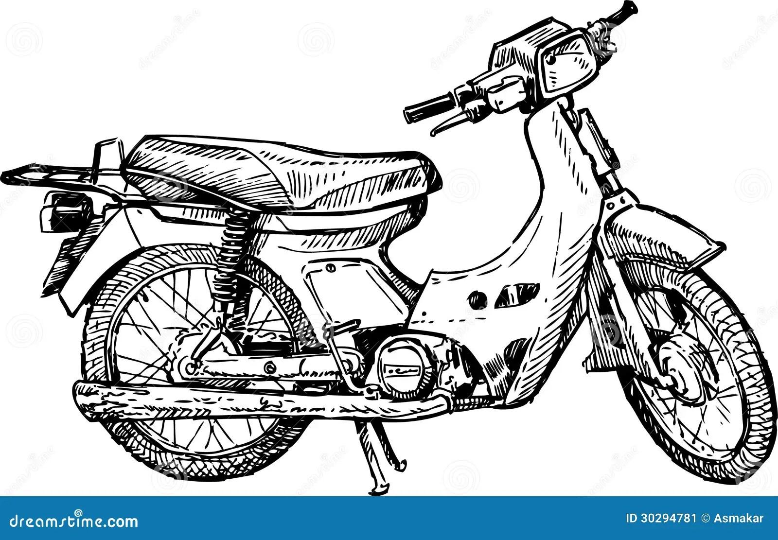 Motorcycle Stock Vector Illustration Of Headlamp Spokes