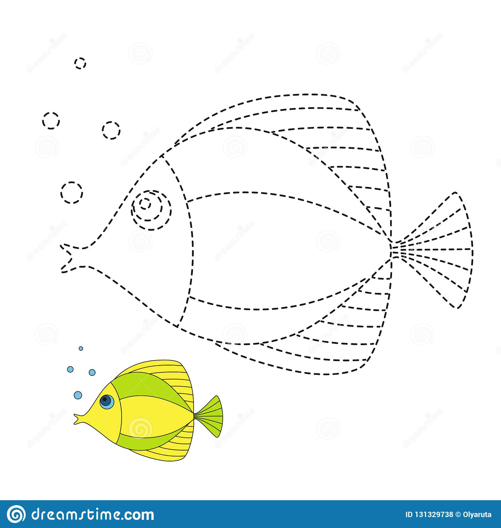 Illustration Of Sea Life For Toddlers Stock Vector