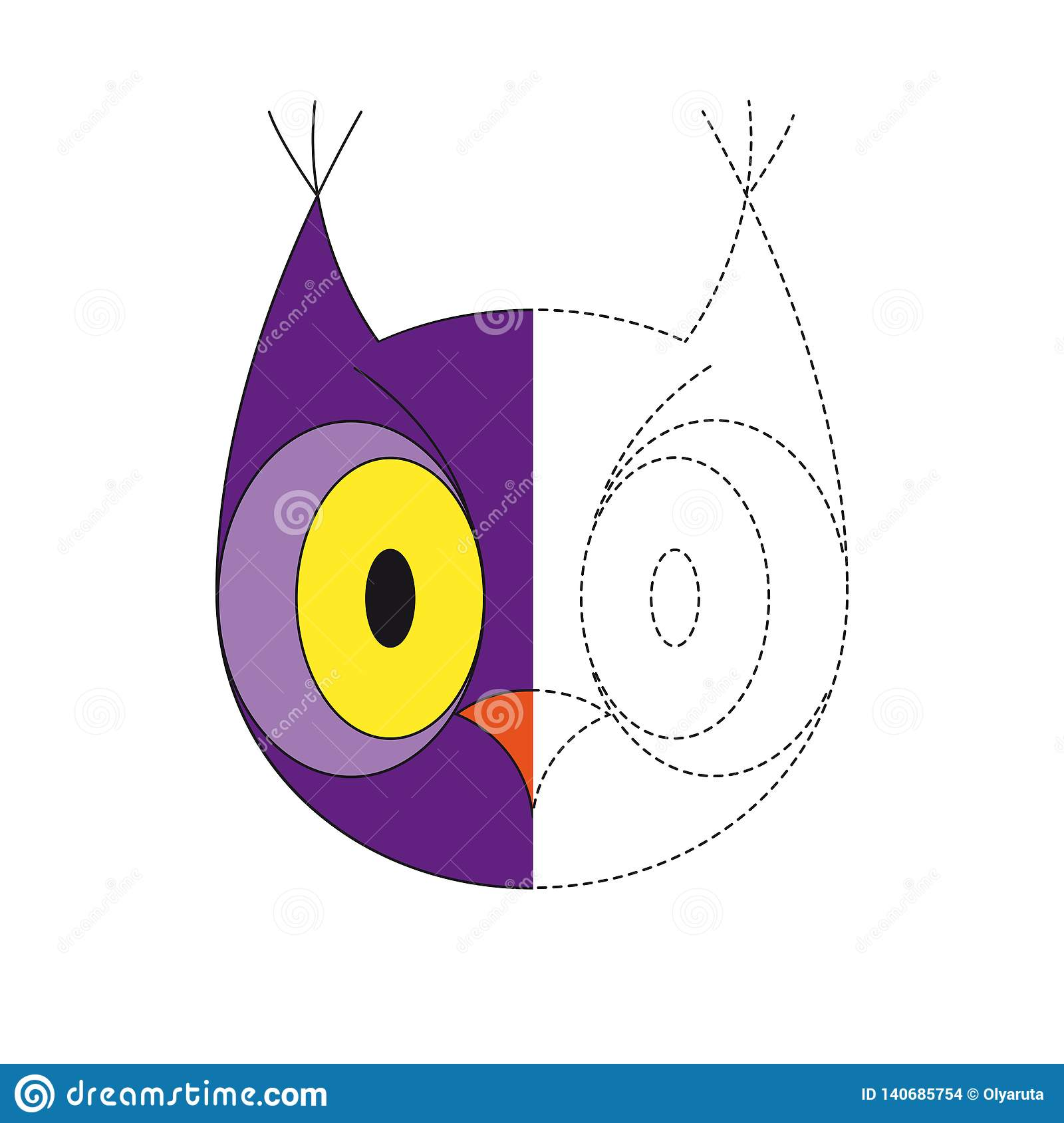 Illustration Of Owl For Toddlers Stock Vector