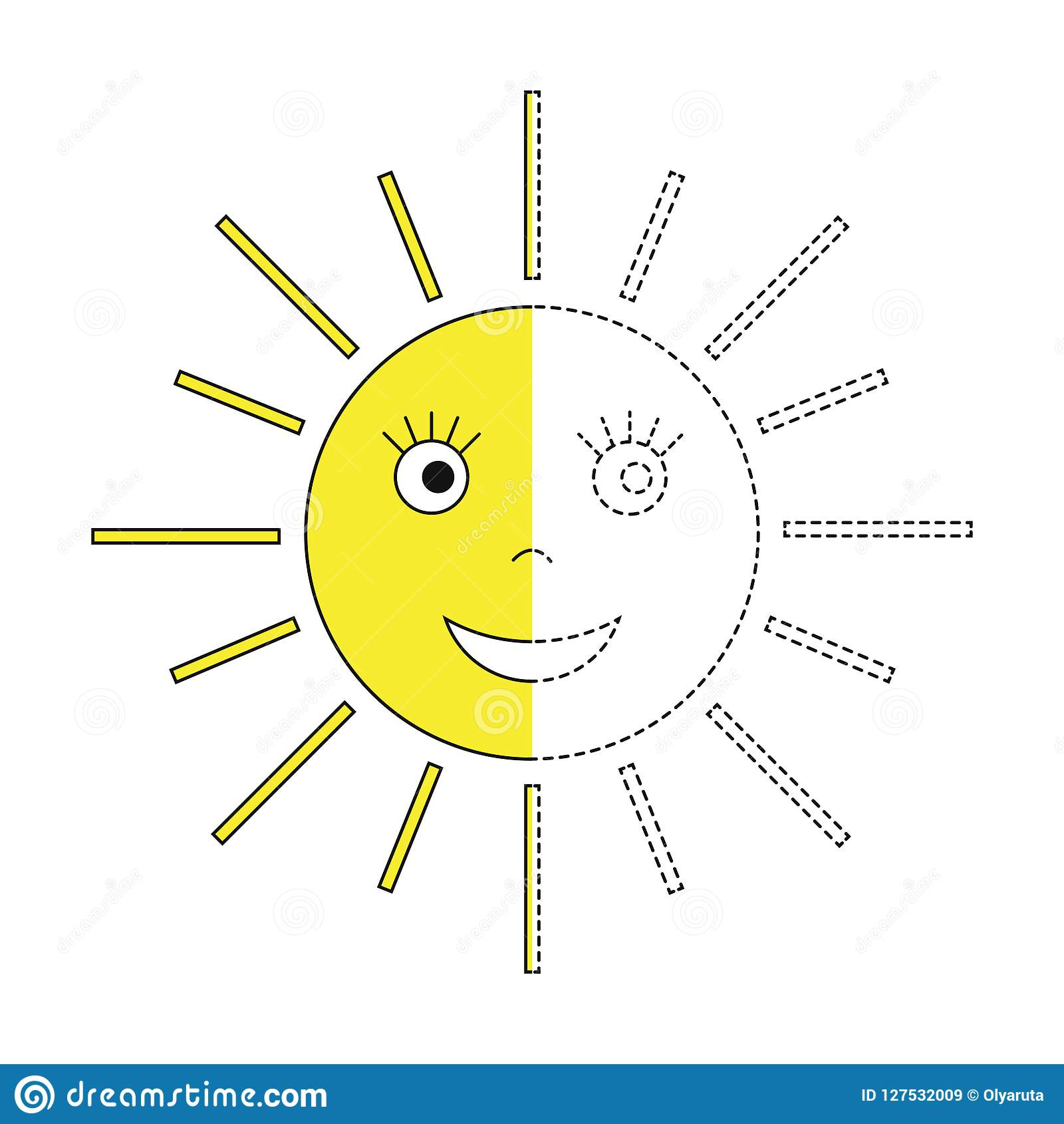 Illustration Of The Sun For Toddlers Stock Vector