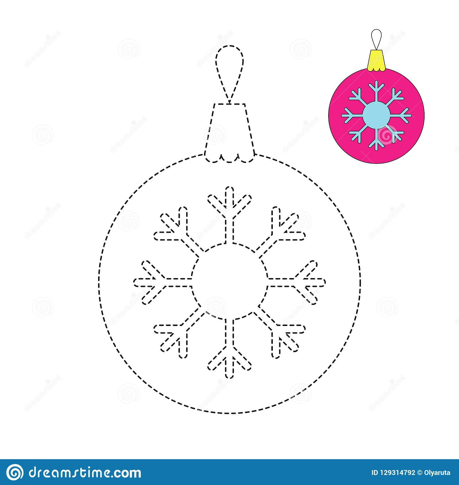 Illustration Of Christmas Ball For Toddlers Stock Vector