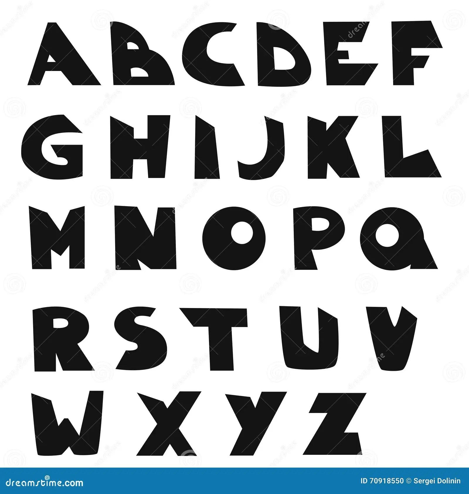 Vector English Alphabet Kids Font Stock Vector
