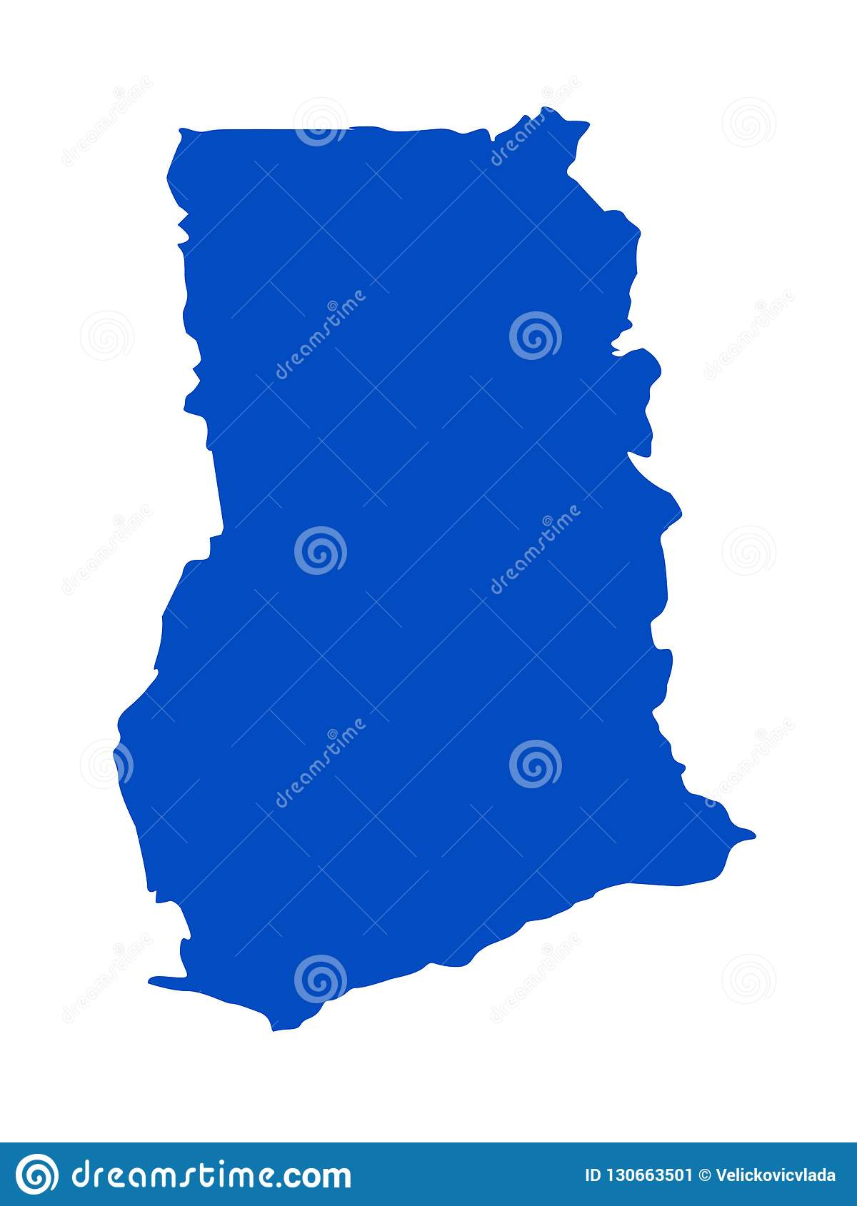 Ghana Map Country In The West Africa Stock Vector Illustration Of Silhouette Topography 130663501