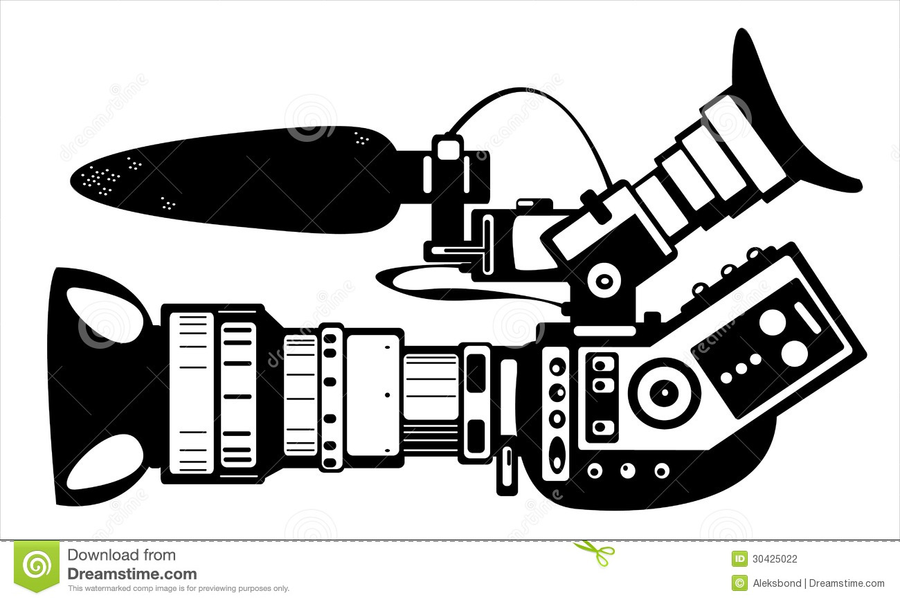 Vector Film Modern Camera Isolated On White Stock Vector