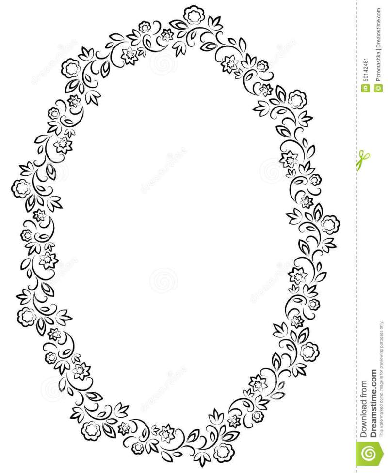 Oval Picture Frame Template Vector | Coloringsite.co