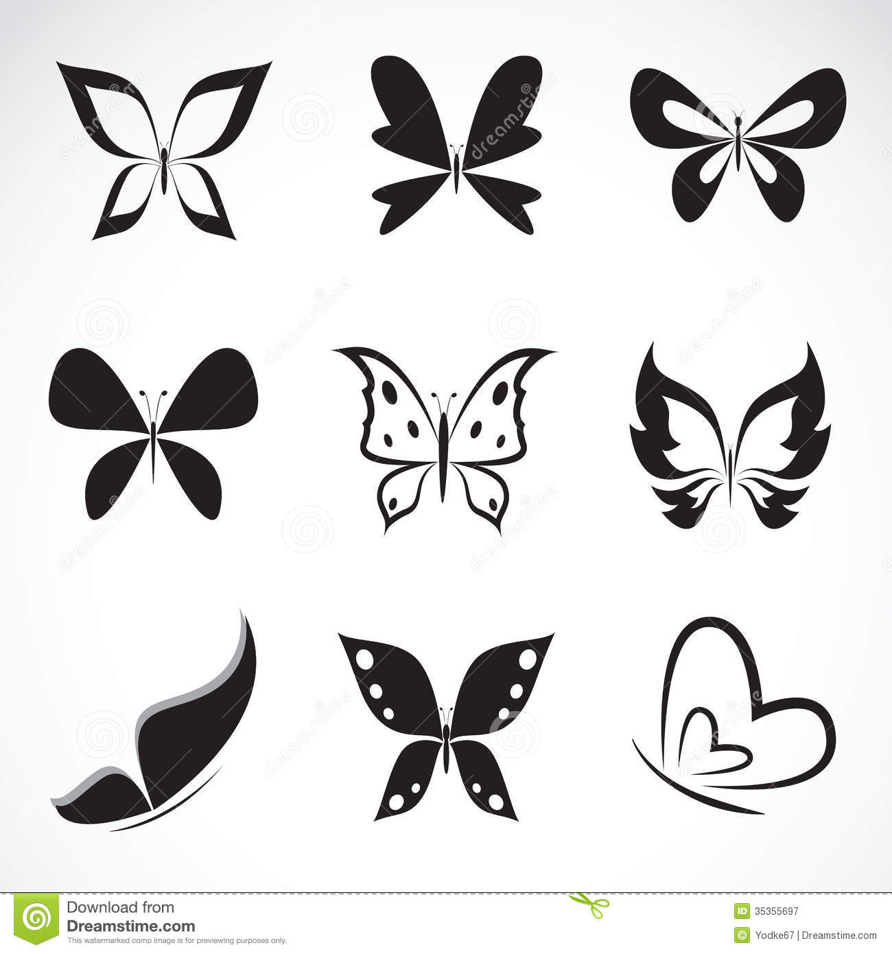 Vector Group Of Butterfly Royalty Free Stock Photography
