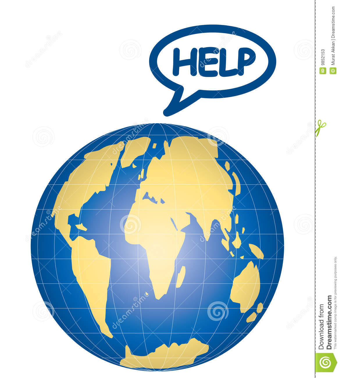 Vector Help Earth Stock Vector Illustration Of Concept