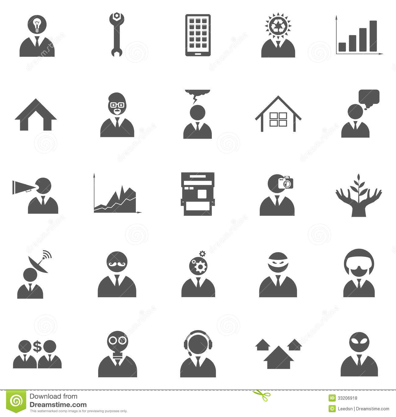 Vector Icons Royalty Free Stock Photos