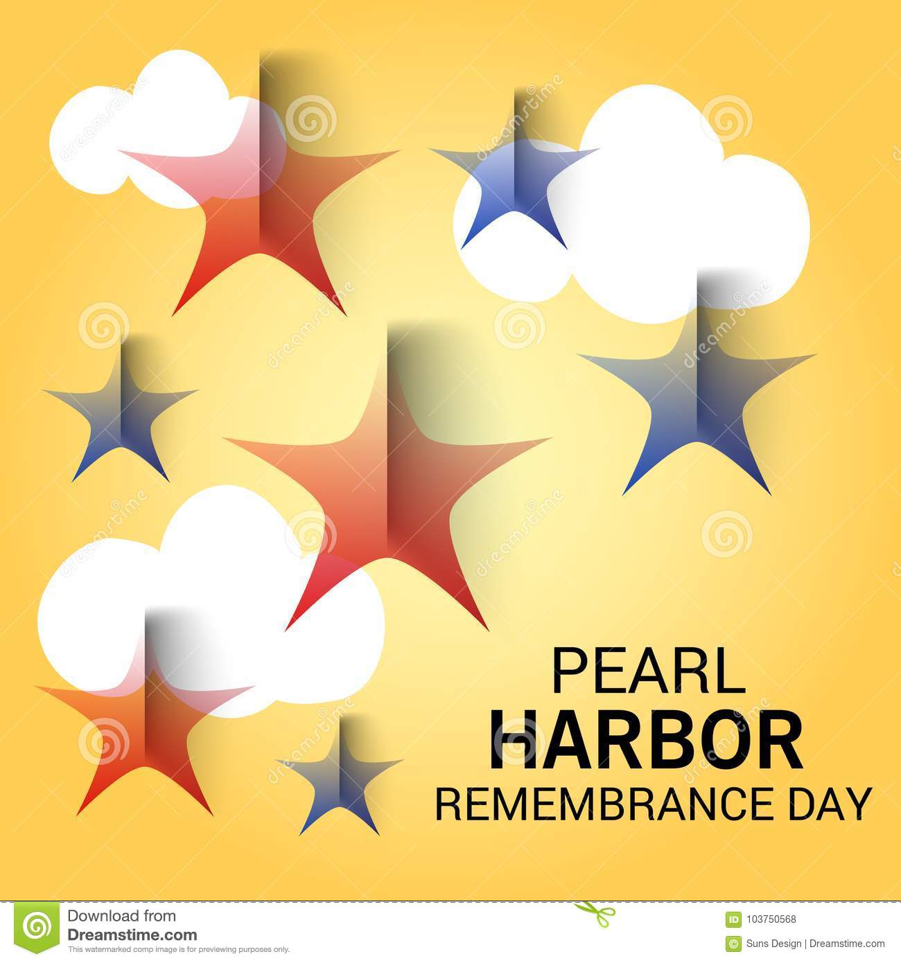 Pearl Harbor Remembrance Day Stock Illustration